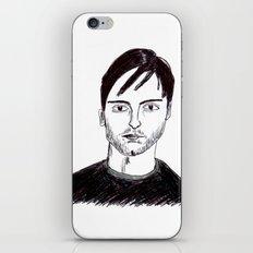 Biro Drawing of Tobey Maguire iPhone & iPod Skin