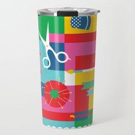 Craft Collage Travel Mug