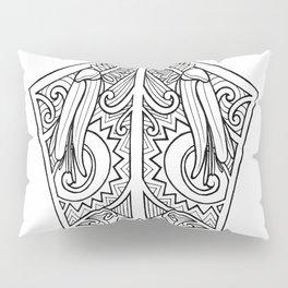 Huia Maori Art Kowhai Flower Pillow Sham