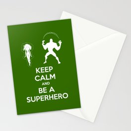 Keep Calm and Be a Superhero Stationery Cards