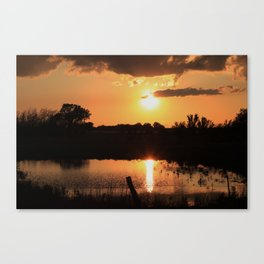 Kansas Blazing Orange Reflection Canvas Print