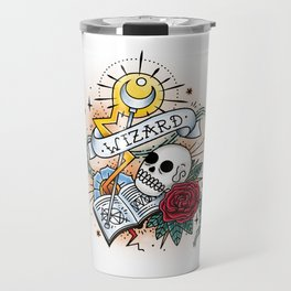 Wizard - Vintage D&D Tattoo Travel Mug