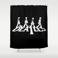 downton abbey Shower Curtains featuring Abbey Road by Nicola Girello