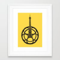 tour de france Framed Art Prints featuring Le Tour de France by Foster Type