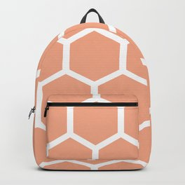 Honeycomb pattern - dusty pink Backpack