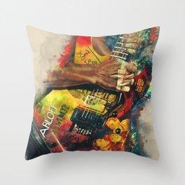 Kirk Hammett's Mummy Guitar Throw Pillow
