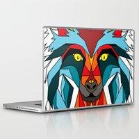 wolf Laptop & iPad Skins featuring Wolf by mark ashkenazi