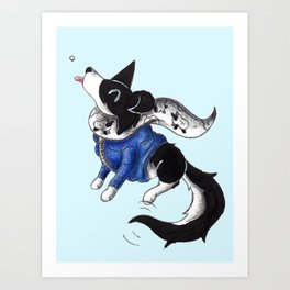 Parka Collie Art Print