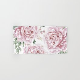 Pretty Pink Roses Floral Garden Hand & Bath Towel
