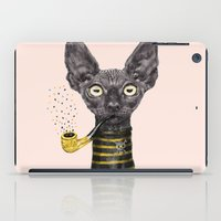 black cat iPad Cases featuring Black Cat by dogooder