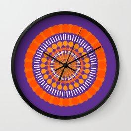 Rough Orange Mandala Wall Clock