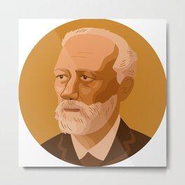 Queer Portrait - Pyotr Ilyich Tchaikovsky Metal Print