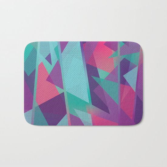 Geometric Abstraction Bath Mat