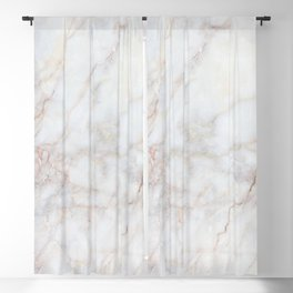 White Marble 004 Blackout Curtain