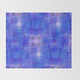 Taj Check (Blue) Throw Blanket