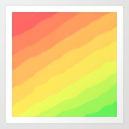 Happy Colorful Rainbow Stripes Art Print