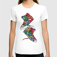 sneakers T-shirts featuring Paint sneakers by Cindys