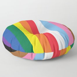 ALL THE COLORS OF LGBTQI+ QUEER COLOUR STORY UNITY Floor Pillow