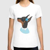 doberman T-shirts featuring Doberman by Shanshan