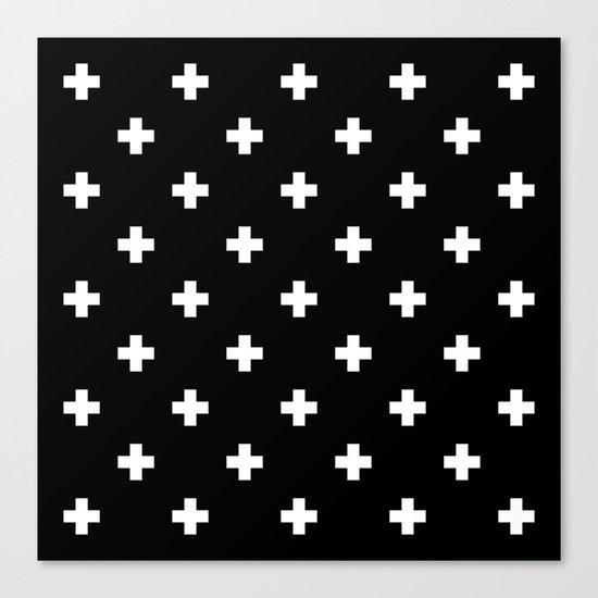 Swiss cross pattern Canvas Print