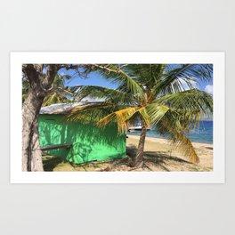 Tropical Building Art Print