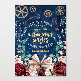 Life is a book Canvas Print
