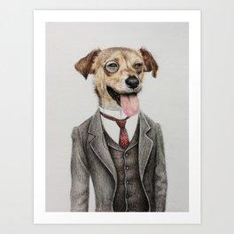 Mr. dog Art Print