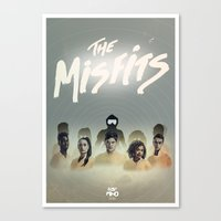 misfits Canvas Prints featuring Misfits Print by LostMind