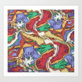 River crossing Art Print
