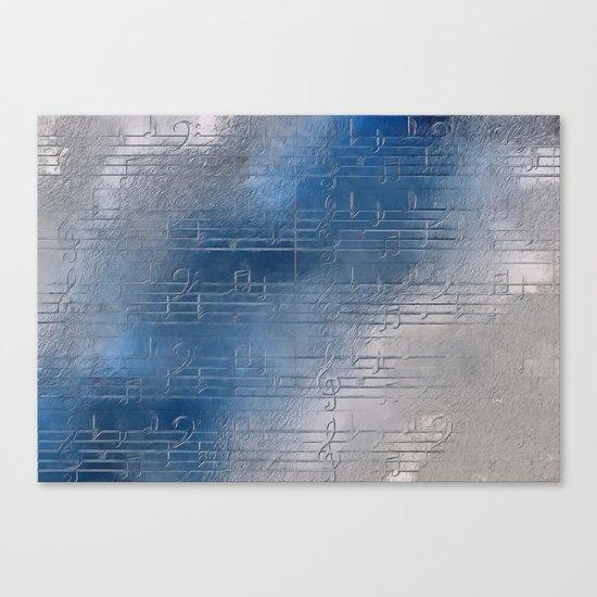 Silver music Canvas Print