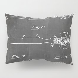 Toothbrush Patent - Bathroom Art - Black Chalkboard Pillow Sham