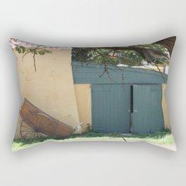 Shed with cart Rectangular Pillow