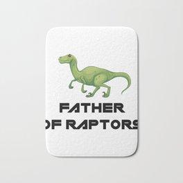 Father of Raptors Dinosaur Bath Mat