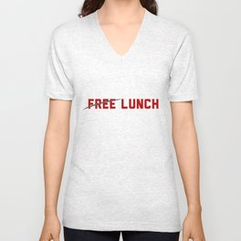 FREE LUNCH 3 Unisex V-Neck