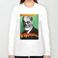 freud Long Sleeve T-shirts featuring Zombie Freud by Ms Moirai