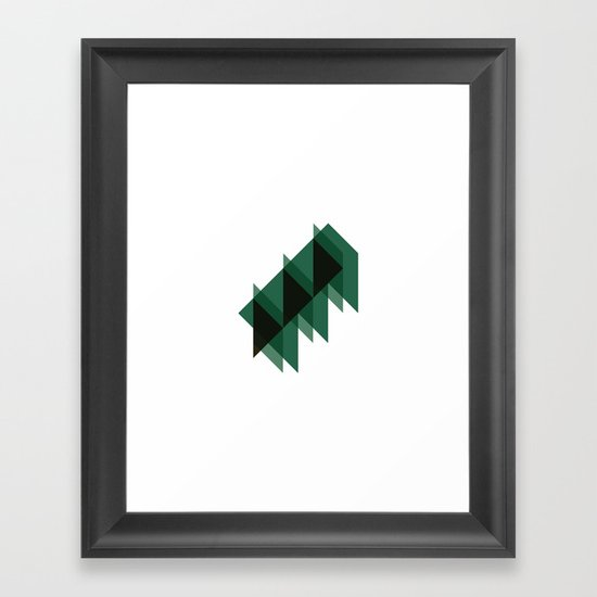 #158 Arcane architecture – Geometry Daily Framed Art Print
