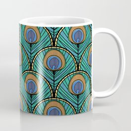 Glitzy Peacock Feathers Coffee Mug