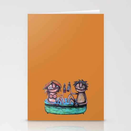 In the bath Stationery Cards
