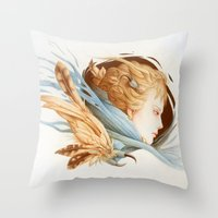 matty healy Throw Pillows featuring Harbinger by Jennifer Healy