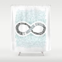 infinity Shower Curtains featuring Infinity by Barlena