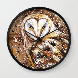 winter's owl Wall Clock