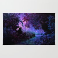 fantasy Area & Throw Rugs featuring Fantasy Path Purple by 2sweet4words Designs