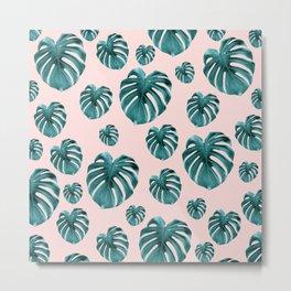Tropical Monstera Dream #7 #tropical #pattern #decor #art #society6 Metal Print