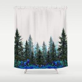 MOUNTAIN FOREST PINES LANDSCAPE  ART Shower Curtain