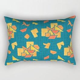 Hand painted geometrics Rectangular Pillow