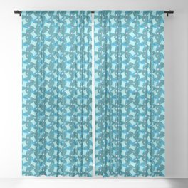 Memphis Sewing in Blue Sheer Curtain