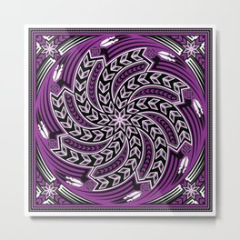 Wind Spirit (Purple) Metal Print