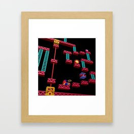 Inside Donkey Kong stage 3 Framed Art Print