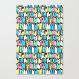 1960s classic fairy tails (tail fins) in pastel Canvas Print