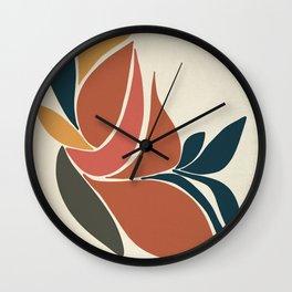 Minimal Tropic - Modern Art Print Wall Clock